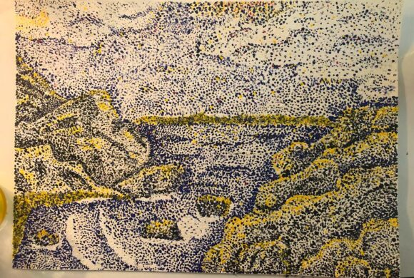 Pointillismus in den 7. Klassen